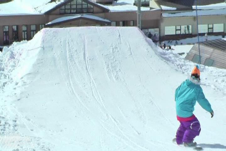 スノーボードのキッカーアプローチとライン取り