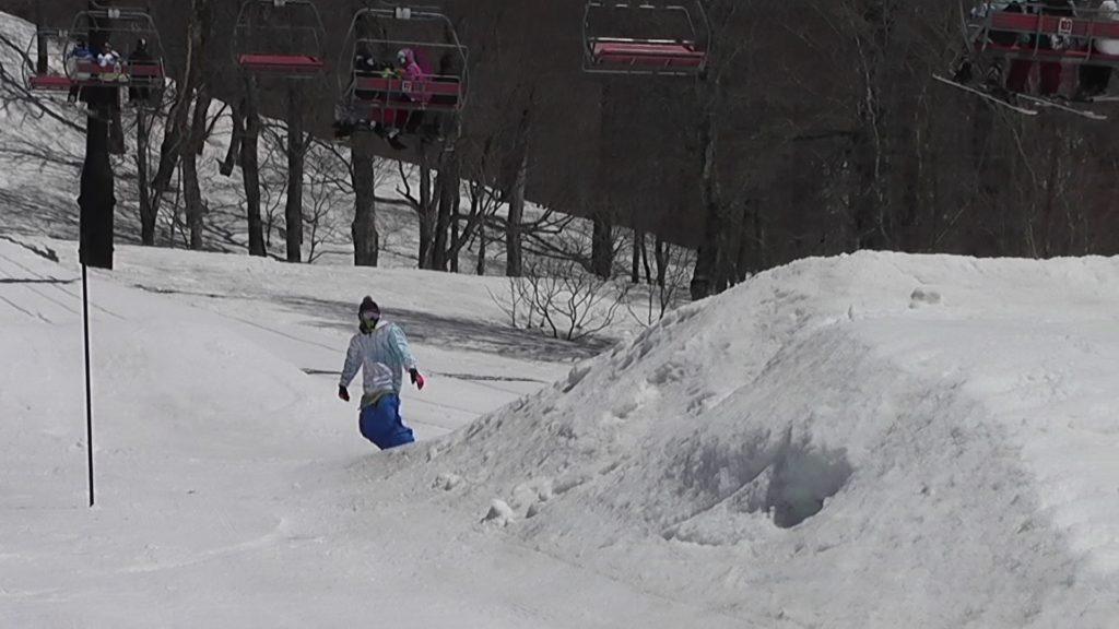 スノーボードのフロントフリップ1
