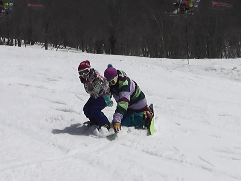 スノーボード ターンの練習