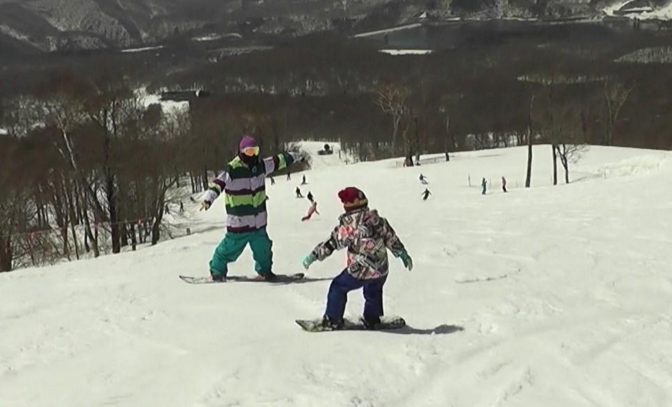 スノーボード 親子