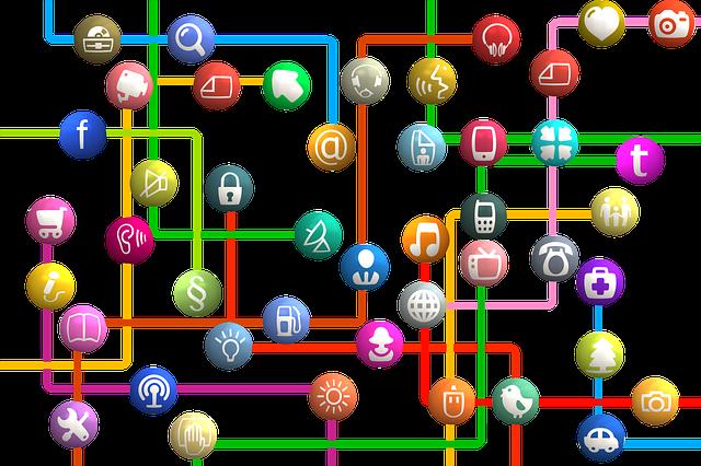 アイコン、ネットワーク、社会
