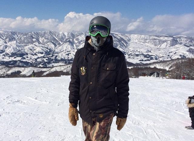 スノーボードヘルメット着用 たかすけ