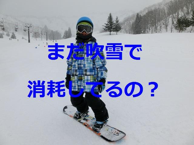 吹雪、スノーボード、子ども