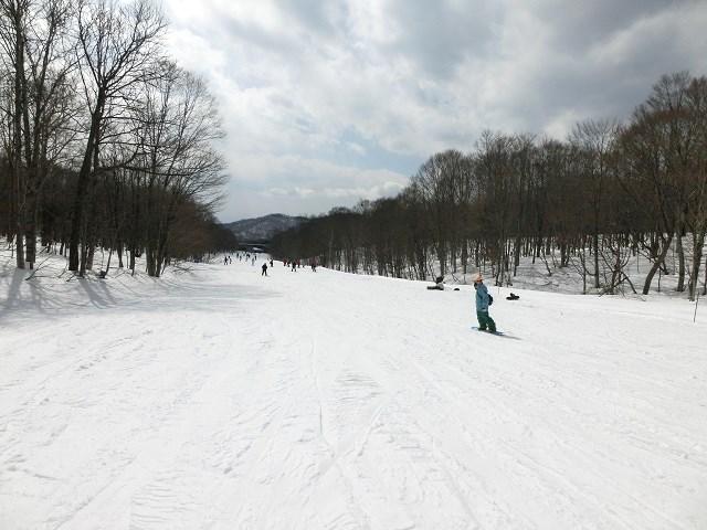 スキー場、初心者コース2