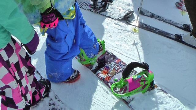 スノーボード、リフト待ち
