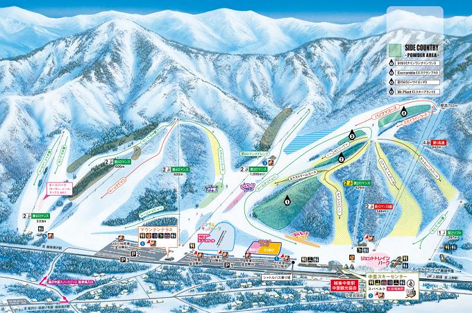中里スキー場ゲレンデマップ