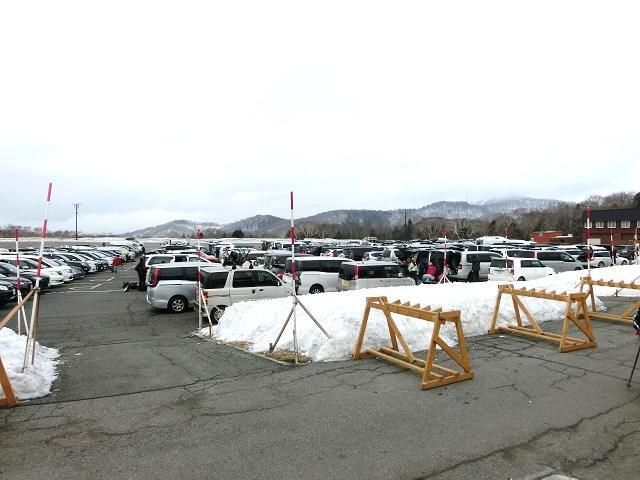 たんばらスキーパーク、駐車場