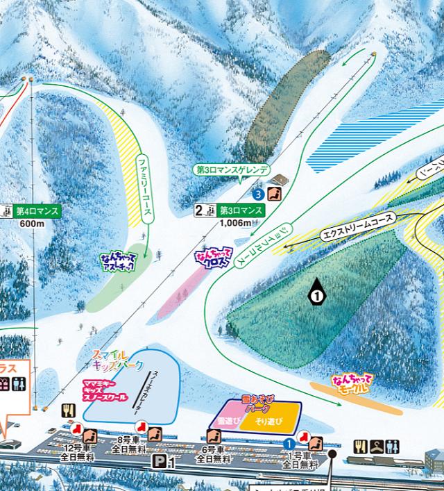 湯沢中里スノーリゾートゲレンデマップ1