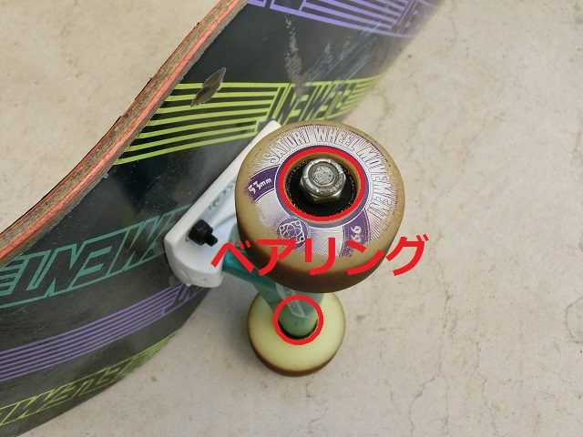 スケートボード ウィール、ベアリング