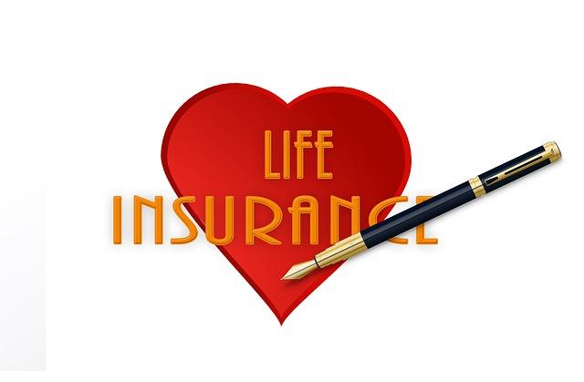 生命保険、ハートマーク、ボールペン