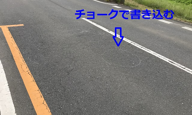 交通事故、現場検証