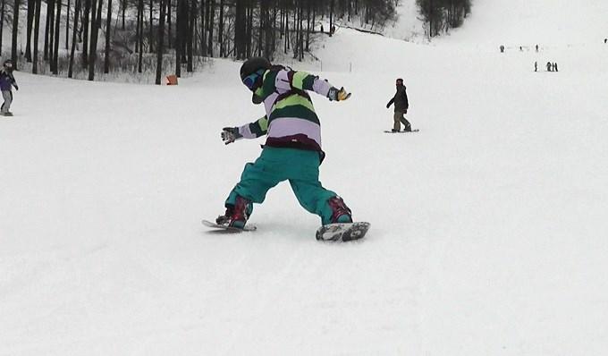 はじめてのセパレートスノーボード「ニコ」(3)