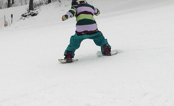 はじめてのセパレートスノーボード「ニコ」(2)