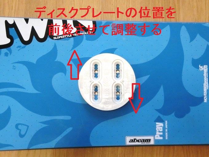 ビンディングのディスクプレートの使い方(センタリング)