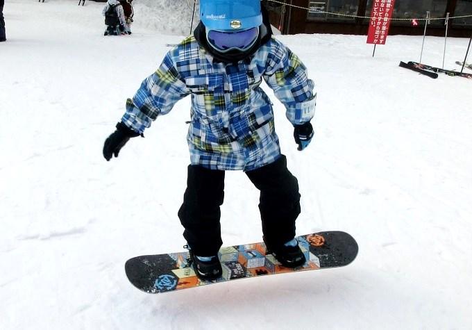 スノーボードのオーリーの練習5