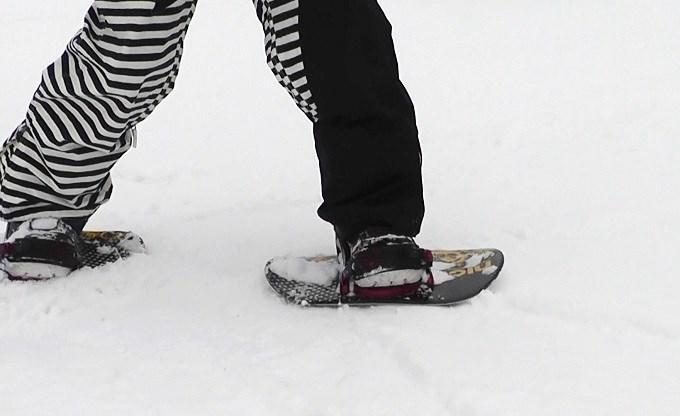 セパレートスノーボード「ニコ」横歩き(3)