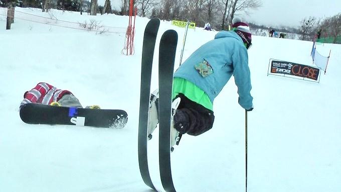 スキー、ノーズマニュアル