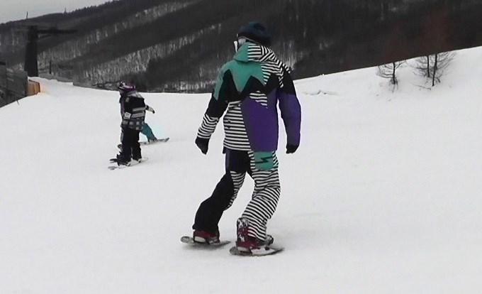 セパレートスノーボード「ニコ」の滑り(1)