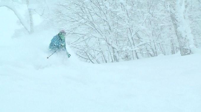 スキー、パウダーラン
