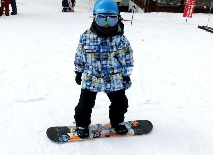 スノーボードのオーリーの練習6
