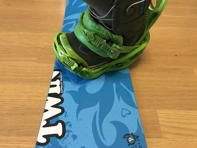 スノーボードのセンタリング(悪い例2)