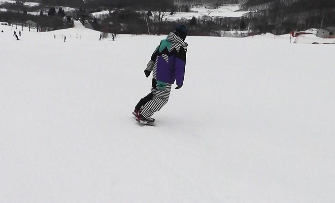 セパレートスノーボード「ニコ」の滑り(8)