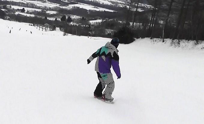 セパレートスノーボード「ニコ」の滑り(7)