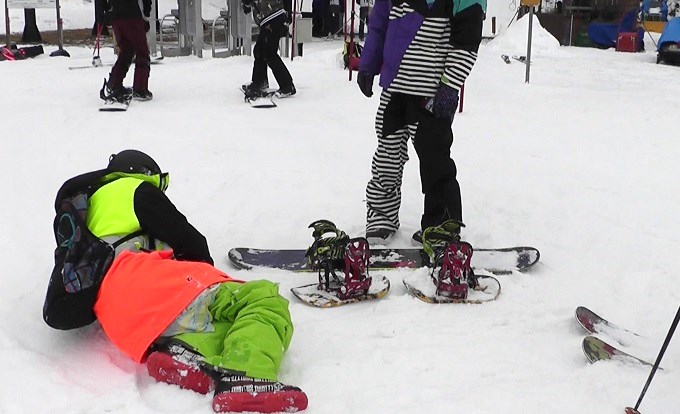 セパレートスノーボード「ニコ」で滑った後の疲れ(3)