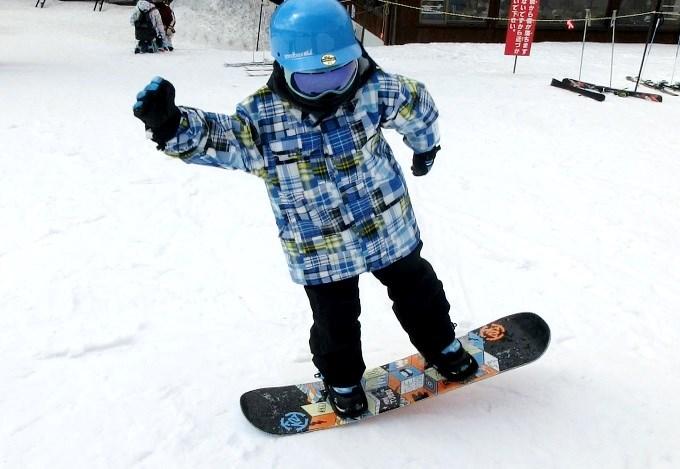 スノーボードのオーリーの練習3
