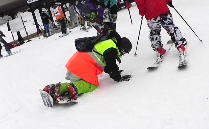 セパレートスノーボード「ニコ」で滑った後の疲れ(2)