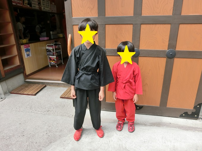 チビッ子忍者村で忍者服をレンタル