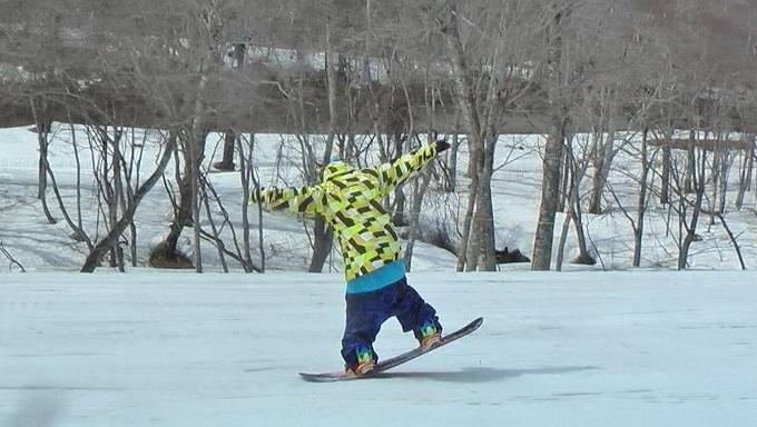 スノーボードグラトリのノーリー(3)