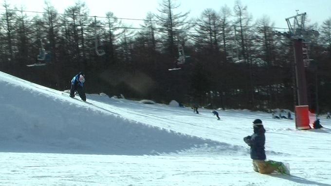 スノーボードキッカーへのアプローチスピード出過ぎ(6)