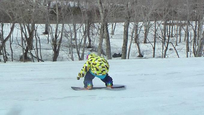 スノーボードグラトリのノーリー(1)
