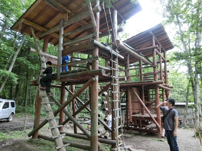 長野県「チビッ子忍者村」アスレチック6