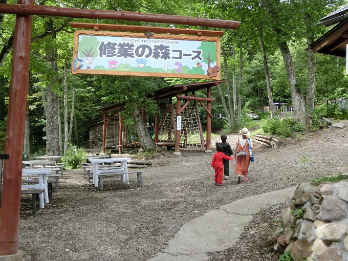 長野県「チビッ子忍者村」アスレチック1