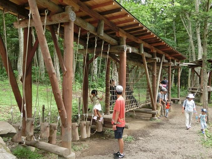 長野県「チビッ子忍者村」アスレチック7