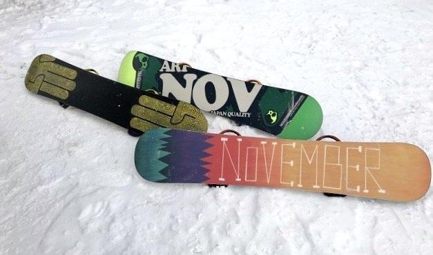 ノベンバースノーボード、折れないボード